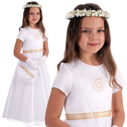 Sukienka komunijna alba model Migotka