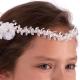 Wianek komunijny biały z perełkami WM40-21