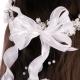 Wianek komunijny biały z perełkami i kryształkami WM79-21