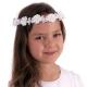 Biały wianek do komunii z perełkami WM133-21