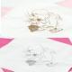 Serwetki komunijne białe dla dziewczynki SKG02