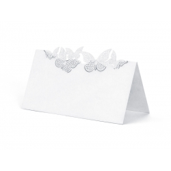 Wizytówki na stół z motylkami WS55