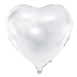 Balon Serce białe 45cm, FB9M-008