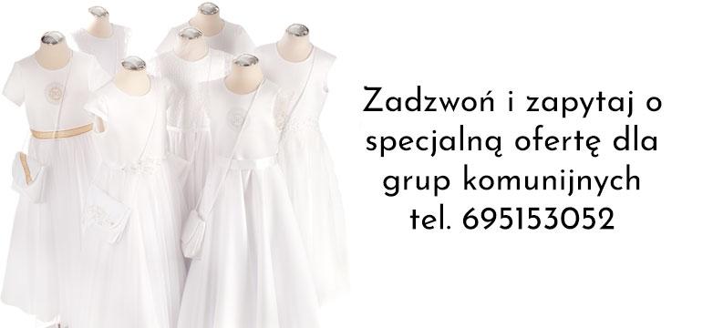 Alby i sukienki komunijne 2021 dla grup
